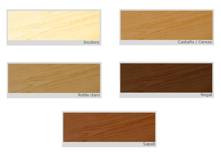 Barniz para la madera interiores cedria barnices para la for Colores maderas para muebles