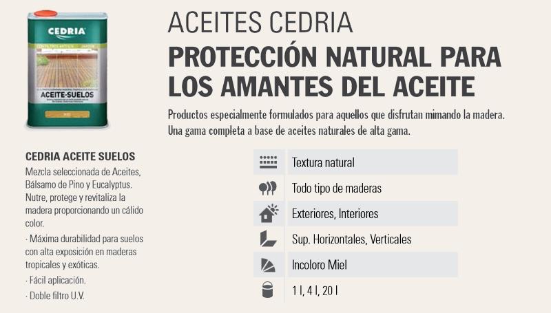 Barnizar madera > Aceites para madera > Cedria Aceite Suelos