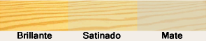 Madera Brillante - Madera Satinada - Madera mate