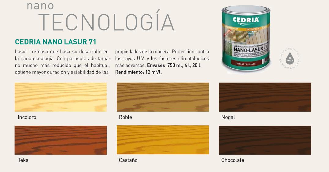 Productos para la madera > Lasures y barnices para madera > Cedria Nano Lasur