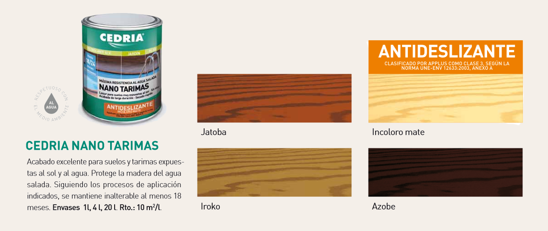 Productos para la madera > Lasures y barnices para madera > Cedria Nano Tarimas