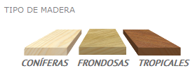 Esmalte para maderas. Maderas coníferas, Maderas Frondosas, Maderas Tropicales