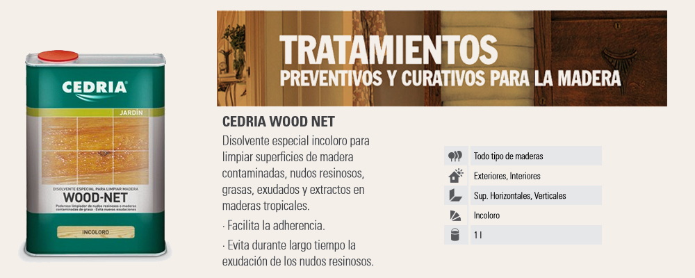 Tratamientos madera > Limpiadores madera > Disolvente madera Wood-Net