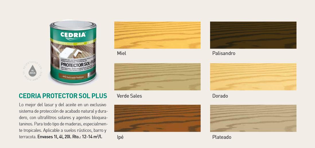 Lasures para la madera protector sol plus cedria doctor - Barnices para madera ...