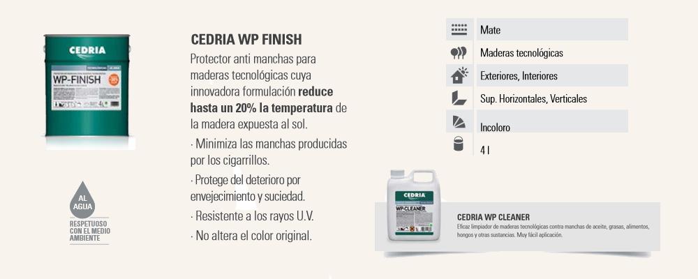 Protector Madera Maderas Tecnológicas Cedria WP Finish