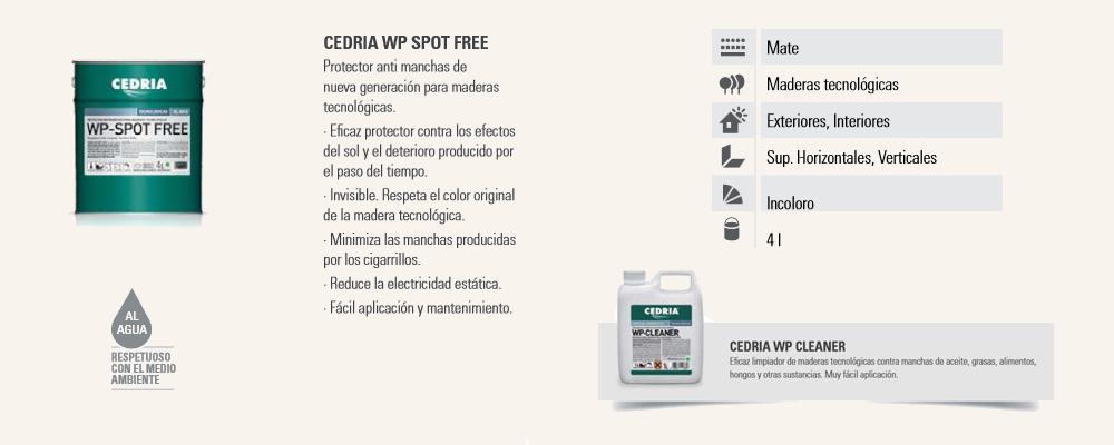 Protector Madera Maderas Tecnológicas Cedria WP-Spot Free